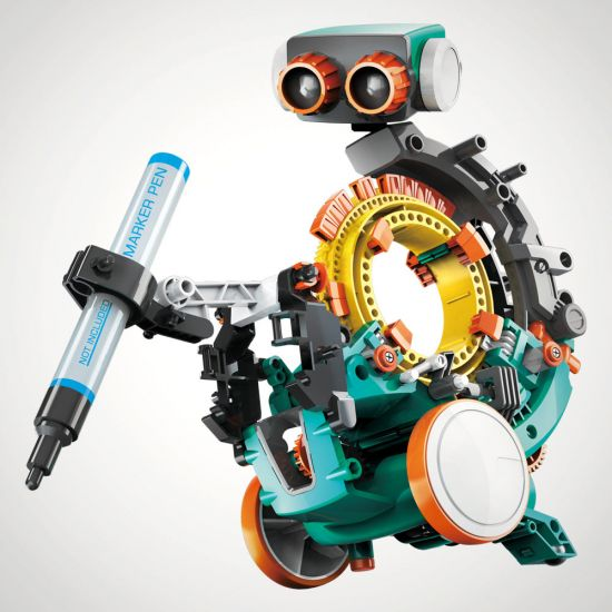 5 in 1 Mechanical Coding Robot - Grey Background