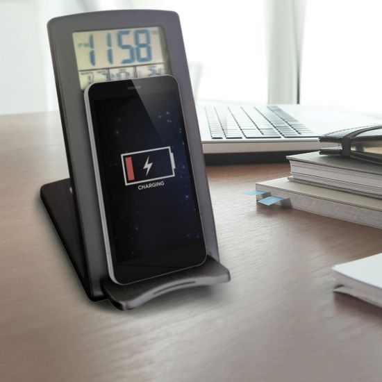 Wireless Phone Charger with Clock - Lifestyle
