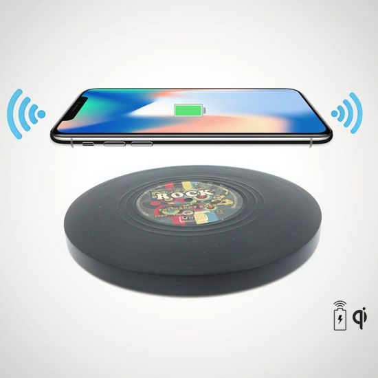 Vinyl Record Wireless Charger - Lifestyle