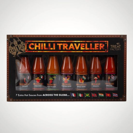 Hot Sauce 7-Pack - Grey Background
