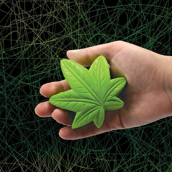 Marijuana Leaf Stress Ball - lifestyle