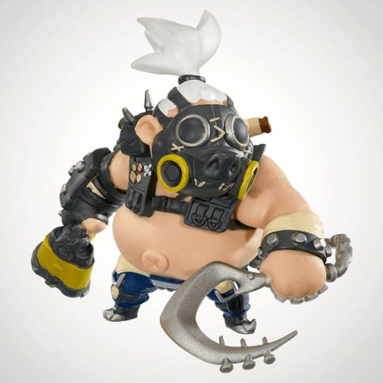 Overwatch Cute But Deadly Roadhog Figure - Grey Background