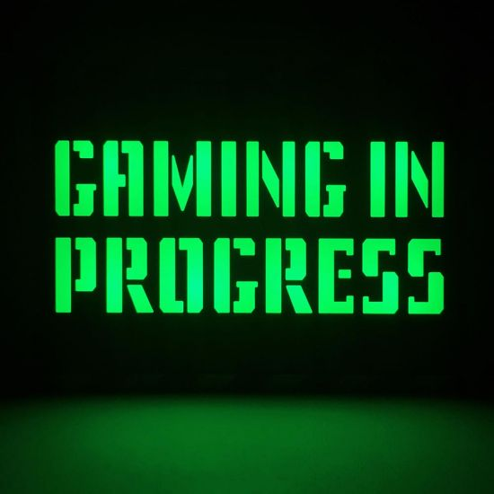 Gaming in Progress A5 Lightbox - Lifestyle