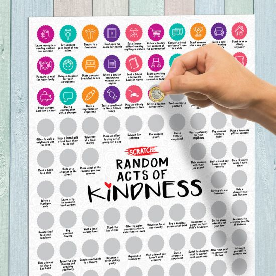 Scratch Poster - 100 Random Acts of Kindness - Lifestyle