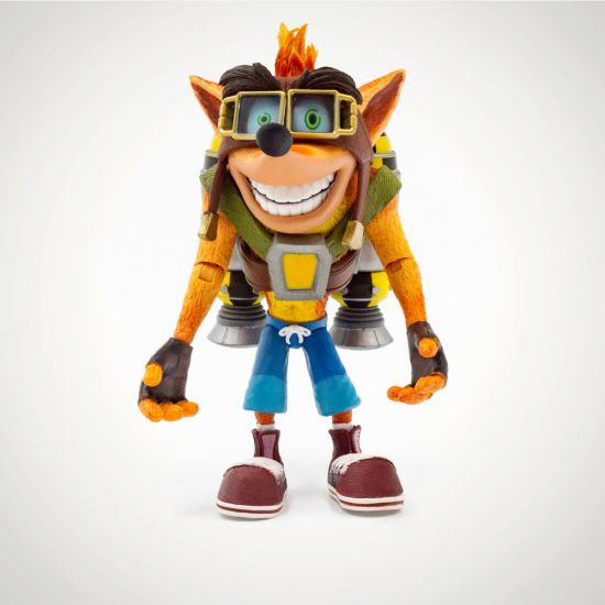 "Crash Bandicoot with Jetpack 7"" Action Figure - Grey Background"