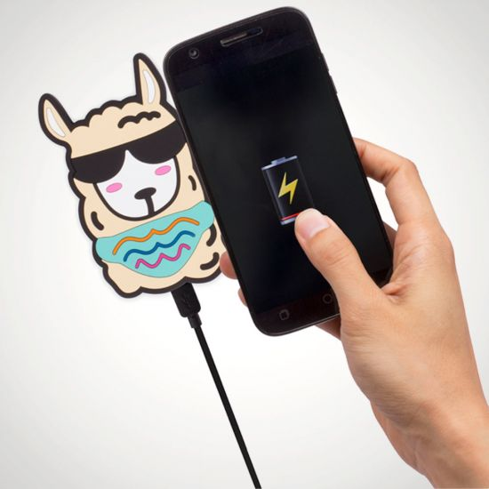Llama Wireless Charger - Grey Background