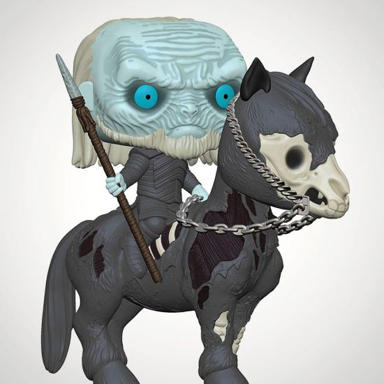 White Walker on Horse S10 Pop! Vinyl - Grey Background