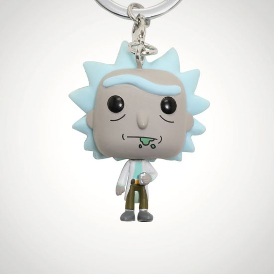 Pop! Keychain Rick & Morty - Rick-grey background