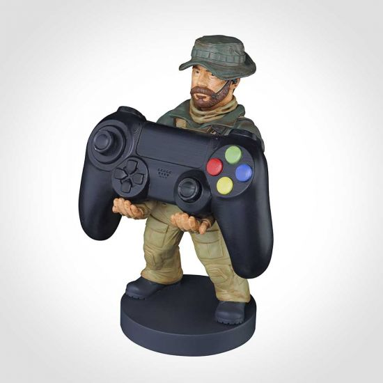 call of duty modern warfare captain price cable guy holding controller grey background