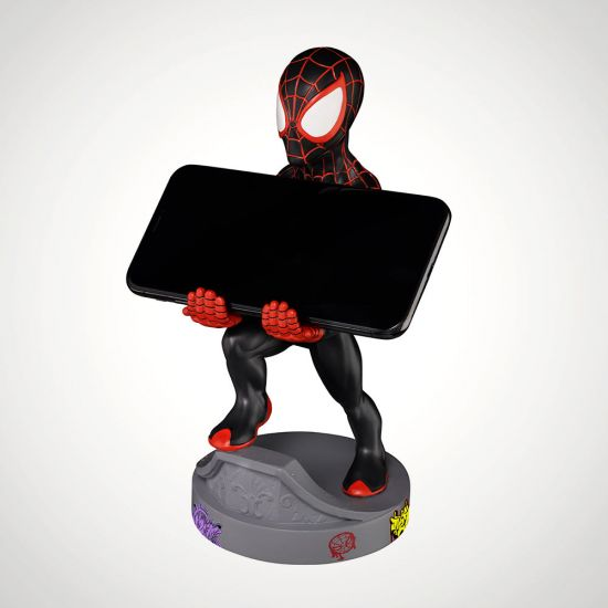 Miles Morales Spiderman Cable Guy - Grey Background