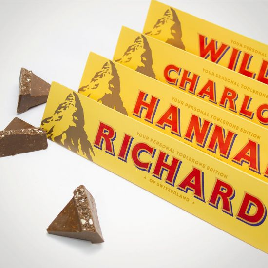 Personalised Toblerone - Grey Background