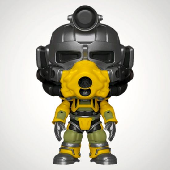 Fallout 76 Excavator Power Armour Pop! Vinyl - Grey Background