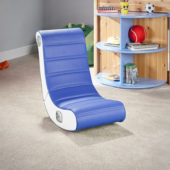 X Rocker Play 2.0 Audio Gaming Chair-Blue - lifestyle