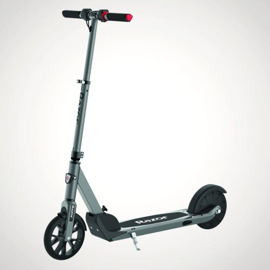Razor E Prime Folding Electric Scooter - Grey Background
