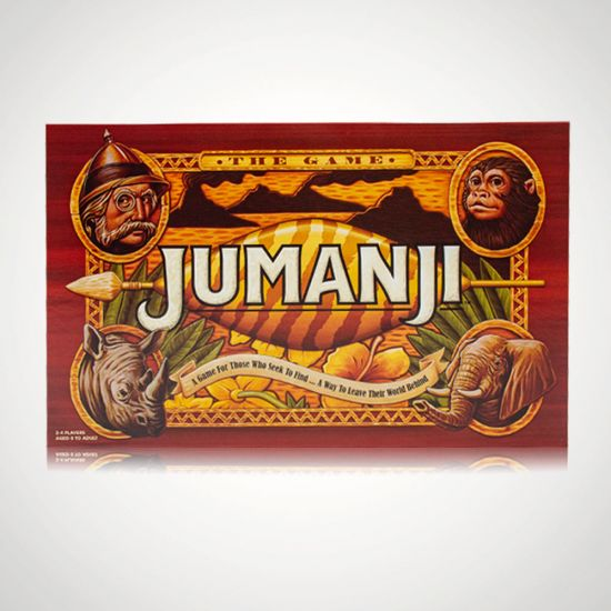 Jumanji Board Game - Grey Background