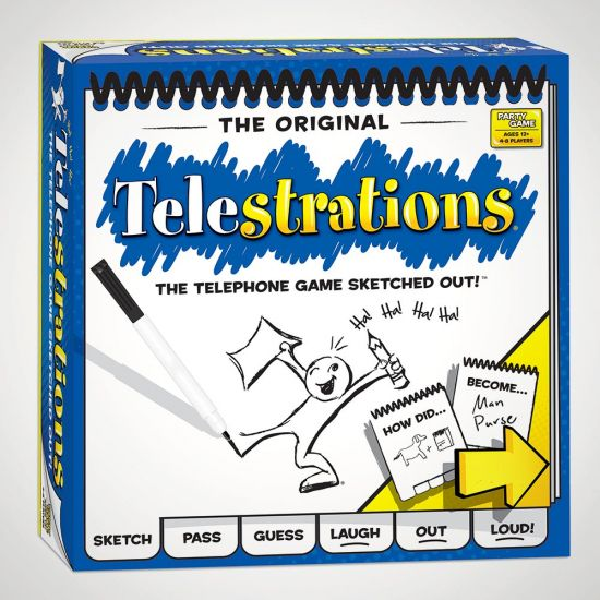 Telestrations Game - Grey Background
