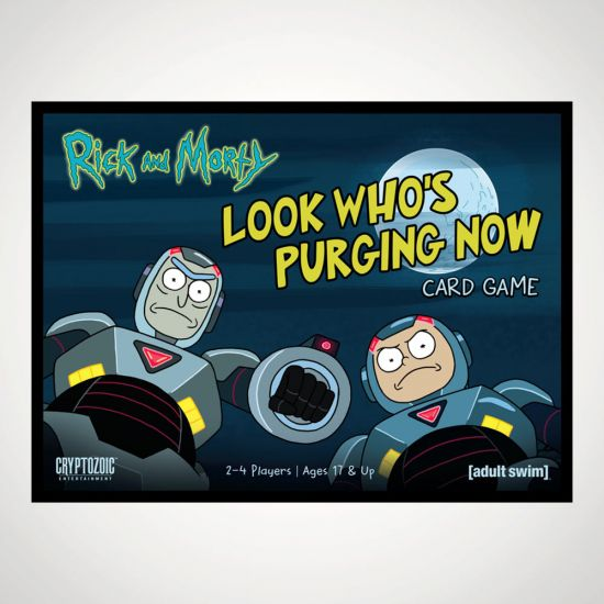 Rick and Morty Look Who's Purging Now Card Game - Grey Background