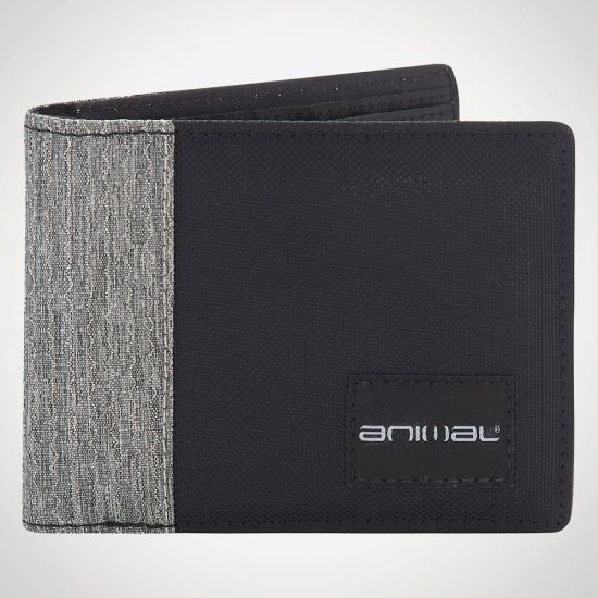 Animal Provoked Bi-Fold Wallet - grey background