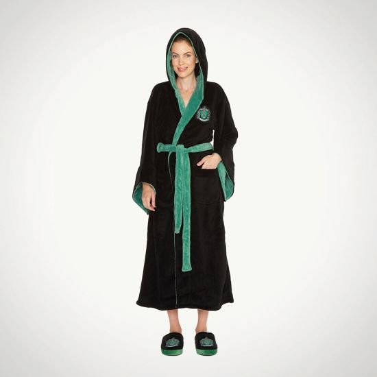 Harry Potter Slytherin House Dressing Gown-Grey Background