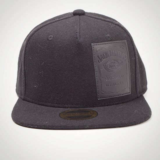 Jack Daniel's Patch Logo Snapback Cap - Grey Background