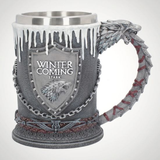 Game of Thrones House Stark Tankard - Grey background