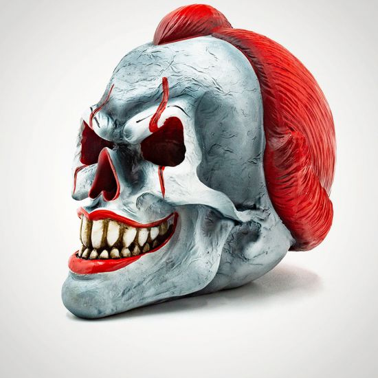 Play Time Clown Skull - Grey Background