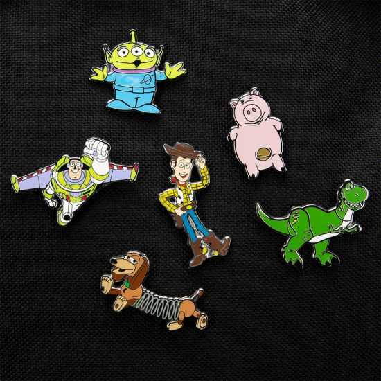 Disney Toy Story Enamel Pin Badge Set  - Lifestyle