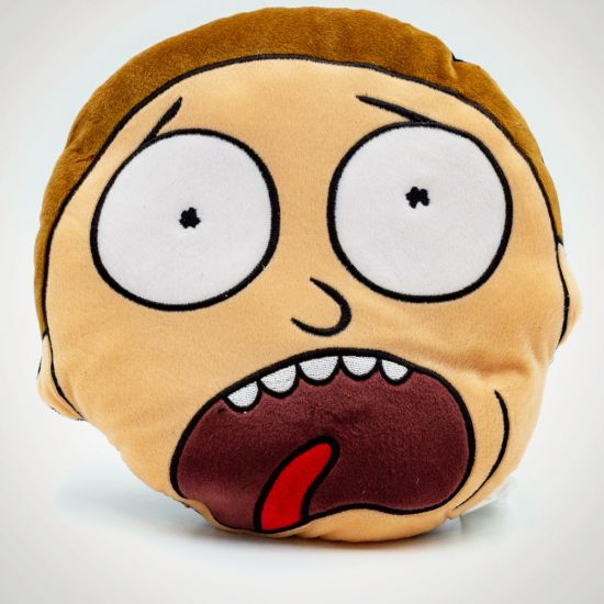Rick & Morty - Morty Cushion - Grey Background
