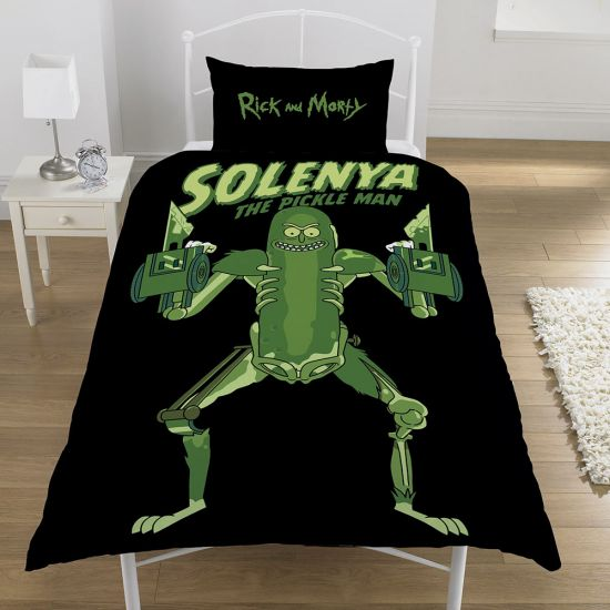 Rick & Morty Pickle Rick Bedding  - Single - Lifestyle