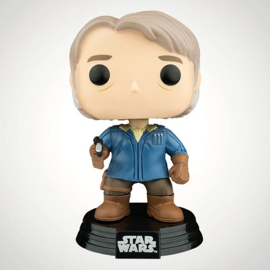 Star Wars Han Solo in Snow Gear Pop! Vinyl - Grey Background