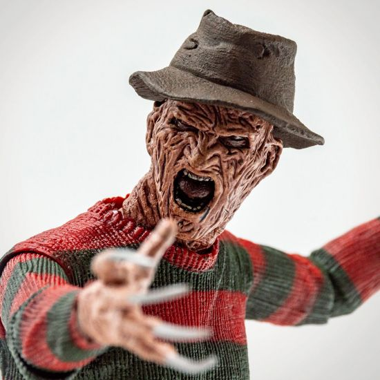 "Nightmare On Elm Street Freddy 7"" Figure - Grey Background"