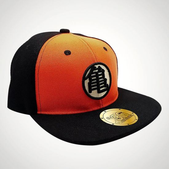 Dragon Ball Kame Snapback Cap - grey background