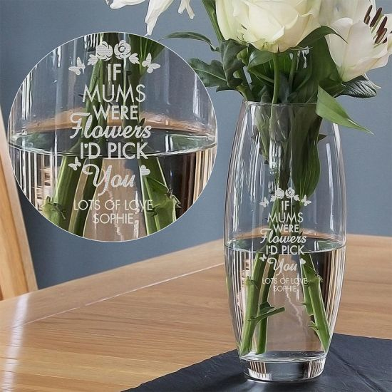 Personalised I'd Pick You Glass Vase - Lifestyle