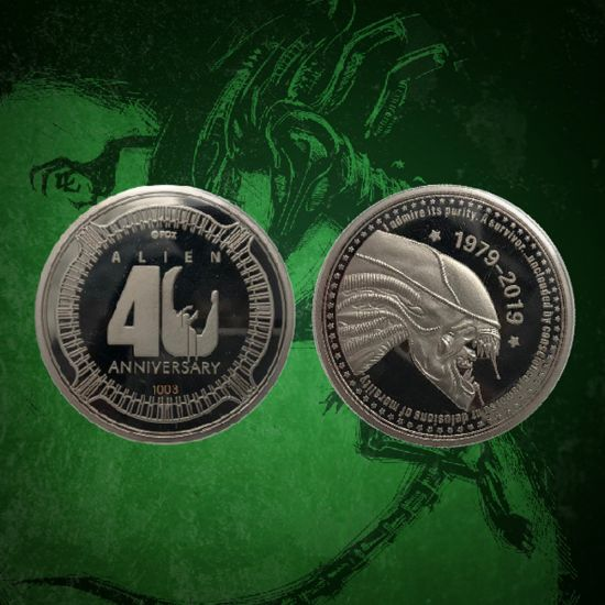 Alien 40th Anniversary Coin - Lifestyle