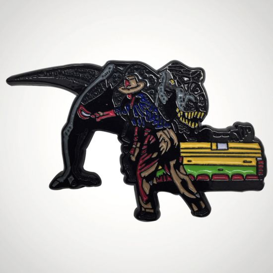 Jurassic Park Pin Badge - Grey Background