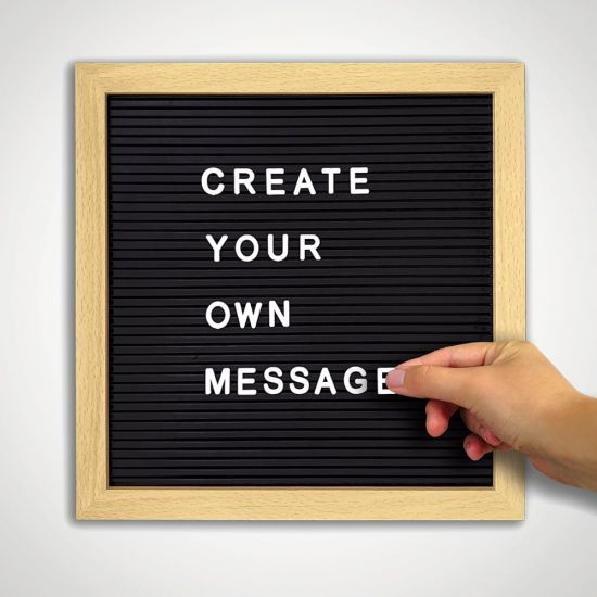 Letter Board - Grey Background