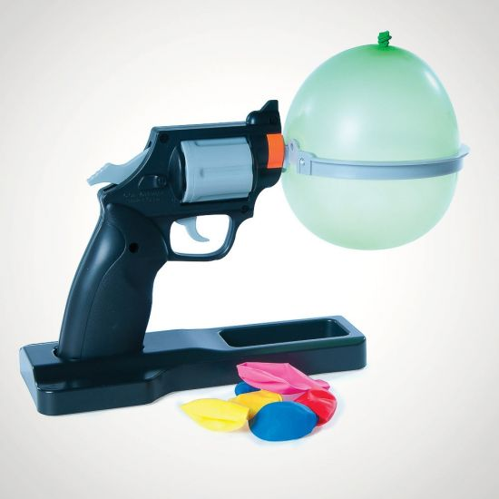 Balloon Russian Roulette-Grey Background