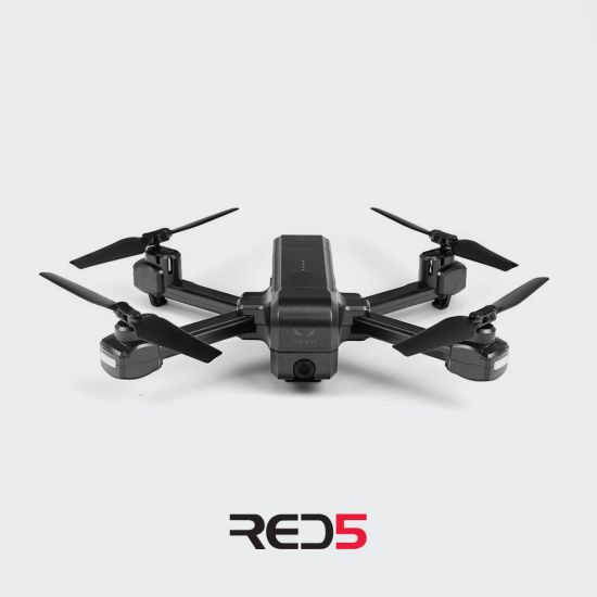 RED5 Hawk Folding Drone with GPS - Grey Background