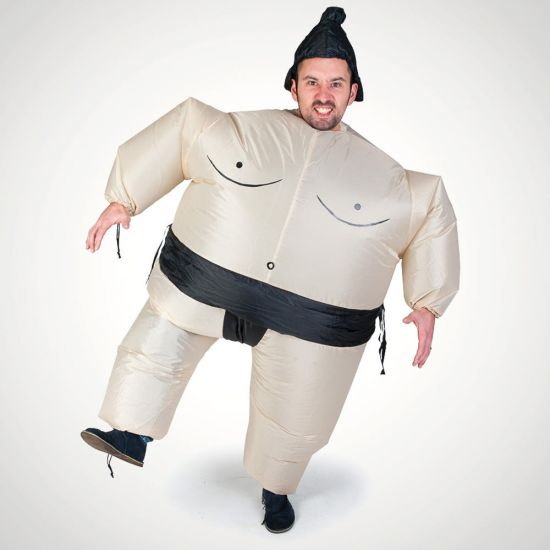 Sumo Me! Inflatable Sumo Suit - Grey Background