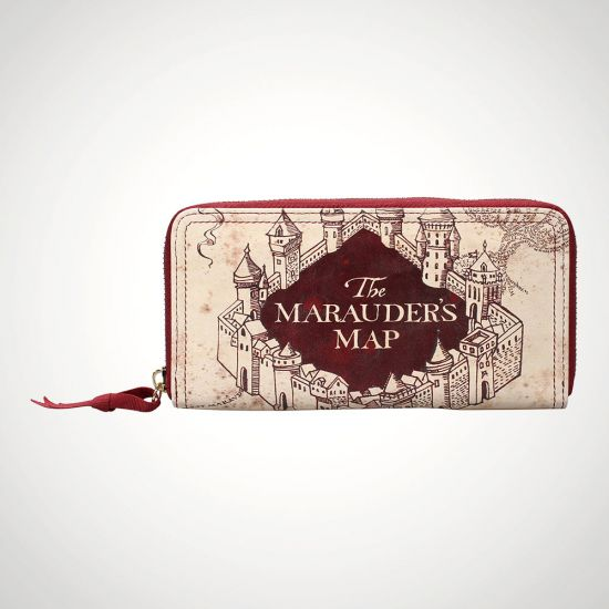 Harry Potter Marauders Map Purse Large - Grey Background
