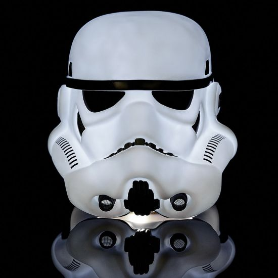 Star Wars Lamp - Stormtrooper Helmet - Black Background