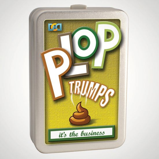 Plop Trumps Card Game - Grey Background