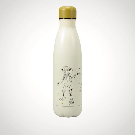 Harry Potter Dobby Metal Water Bottle - Grey Background