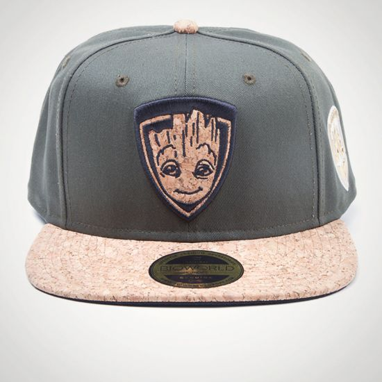Guardians of the Galaxy 2 - Groot Character Snapback - Grey Background