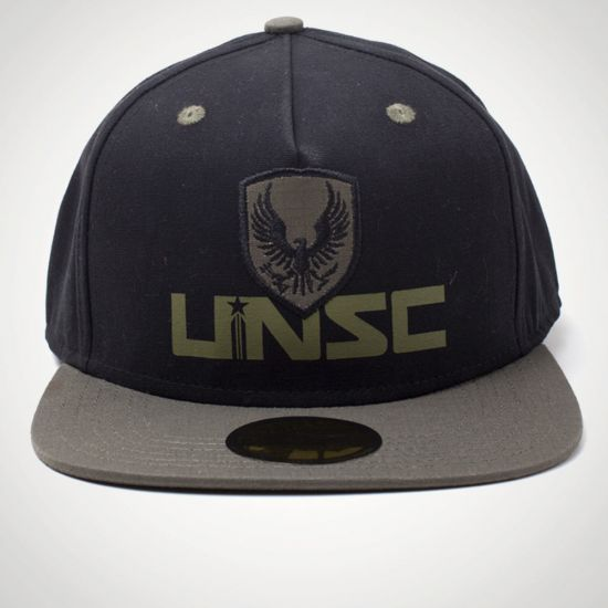 Halo - UNSC Screen Print 2D Embroidery Patch Snapback Cap - Grey Background