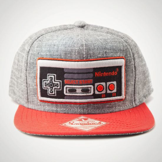 Nintendo - NES Controller Snapback Linen - grey background