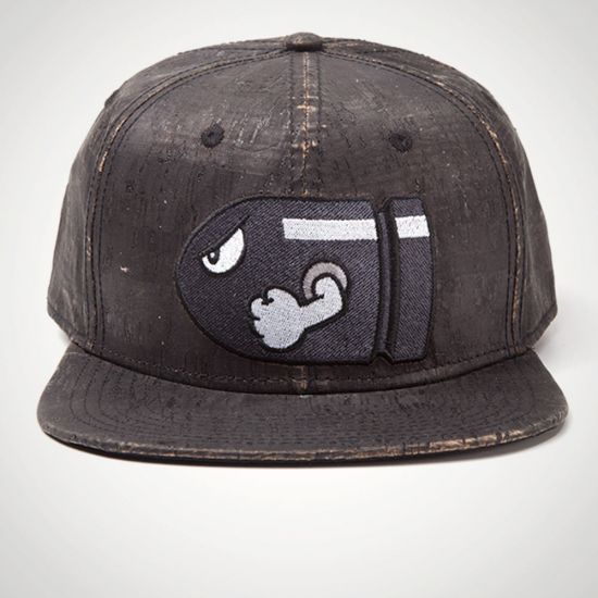 Nintendo - Bullet Bill Snapback With Embroidery - Grey Background