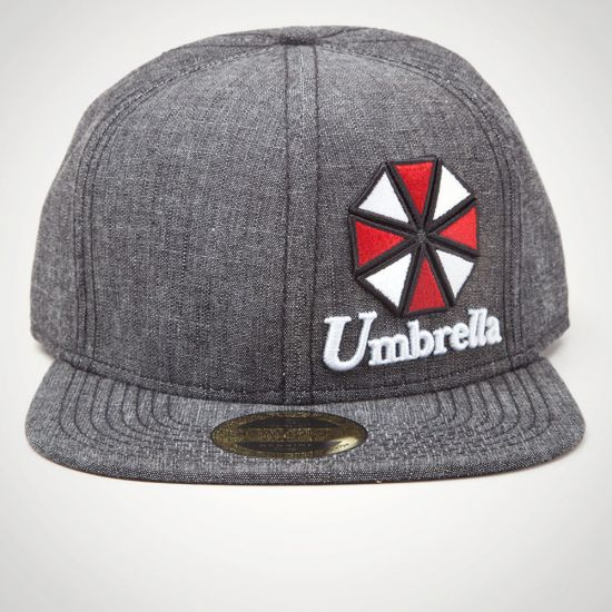 Resident Evil - Umbrella Logo Snapback - Grey Background