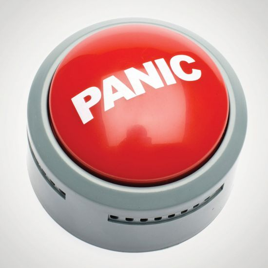 Panic Alarm Button-Grey Background
