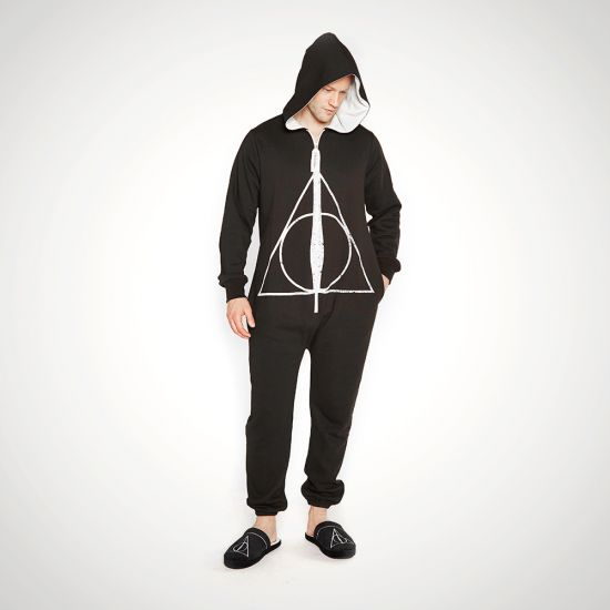 Deathly Hallows Harry Potter Jumpsuit - Grey Background